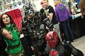 Poison Ivy, Bane & Red Hood cosplayers (15842286477).jpg