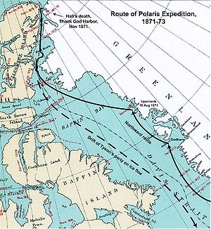Polaris expedition - Route of the Polaris Expedition 1871–73