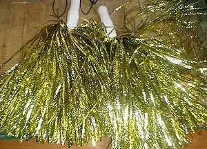 A pair of cheerleading pom-pons