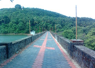 Poomala Dam - A view of reservoir and dam