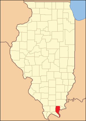 Pope County, Illinois - Image: Pope County Illinois 1843
