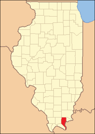 Pope County, Illinois - Image: Pope County Illinois 1843