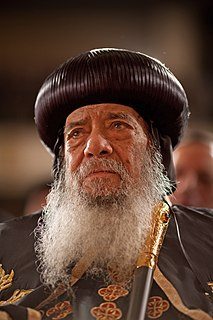 Pope Shenouda III of Alexandria 20th and 21st-century Coptic Orthodox Pope of Alexandria