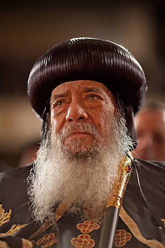 Pope of the Coptic Orthodox Church of Alexandria - Pope Shenouda III, the 117th Pope of Alexandria and the Patriarch of All Africa on the Holy Apostolic See of Saint Mark