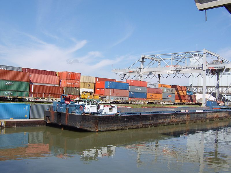 File:Port Basel Klein Hüningen.jpg