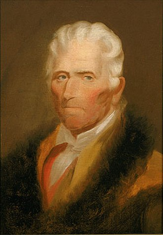 Chester Harding (painter) - Image: Portrait of Daniel Boone by Chester Harding 1820