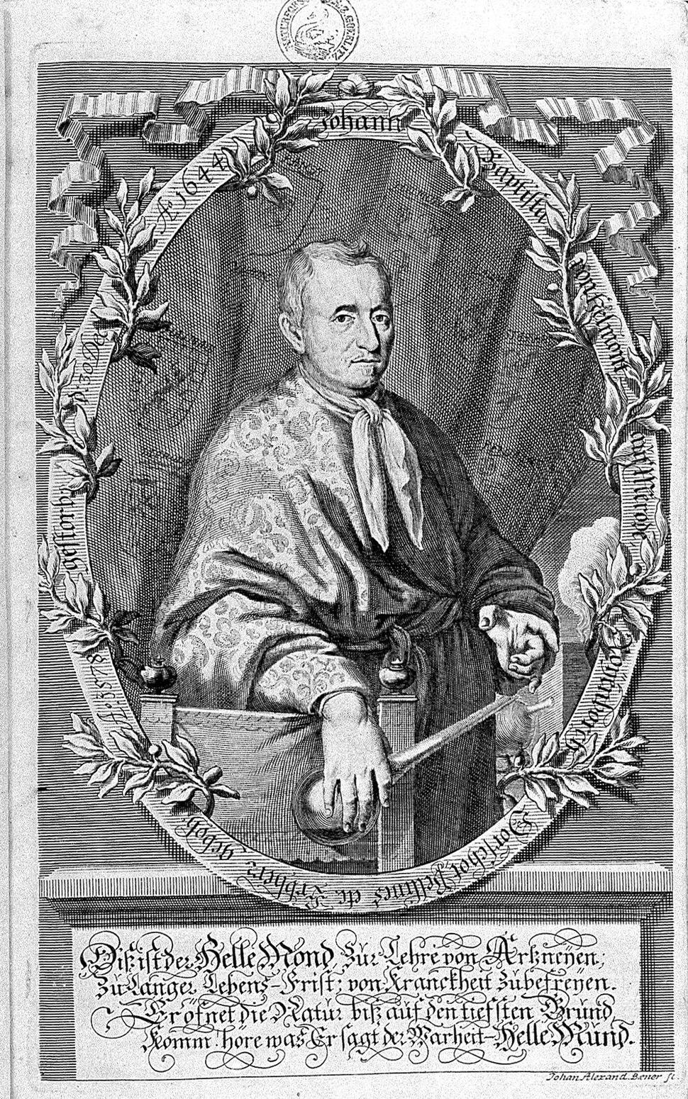 Portrait of J.B. van Helmont, Aufgang...1683 Wellcome L0003194
