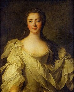 Portrait presumed to be Marie Louise de La Tour d'Auvergne, princess of Guéméné called the princess of Rohan (1746, Jean Marc Nattier).jpg