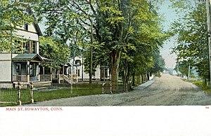 Rowayton - Image: Postcard Main St Rowayton Norwalk CT1906