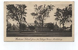 Middlebury, Connecticut - Image: Postcard Middlebury CT Westover School 1912