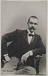Postcard made of Axel Gallén´s photography studio portrait, Helsinki, 1890. (14542203789).jpg