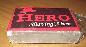 Alum - Image: Potassium Alum Block India Shaving Aftershave