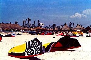 Coche Island - Power kites at Coche, Venezuela