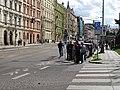 Průvod tramvají 2015, Dukelských hrdinů, fotografové.jpg