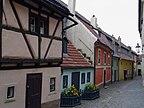 Praga, Czechy - Widok na skrzyżowanie ulic  - Th�