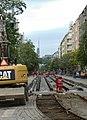 Praha, Holešovice, Ortenovo náměstí, rekonstrukce tramvajové trati II.jpg