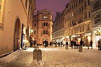 Praha U Zlaté studny sníh 2010.jpg