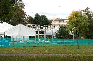 Frieze Art Fair - Frieze Art Fair under construction in Regent's Park, in 2009.