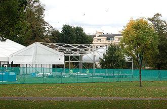 Frieze Art Fair - Frieze Art Fair under construction in Regent's Park, in 2009.