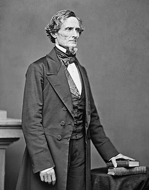 Eggnog Riot - Jefferson Davis as President of the Confederate States of America in 1861. Davis was among the seventy cadets who took part in the Eggnog Riot of 24–25 December 1826.