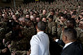 President Barack Obama wades into a crowd of soldiers for handshakes during a visit to Ft. Bliss, Texas, on Aug. 31, 2012. 120831-D-TT977-425.jpg