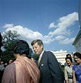 President John F. Kennedy Bids Farewell to Lakshmi N. Menon, Minister of External Affairs of India.jpg