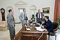President Ronald Reagan at a Senior Staff Meeting.jpg