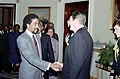 President Ronald Reagan shaking hands with Richard Pryor.jpg