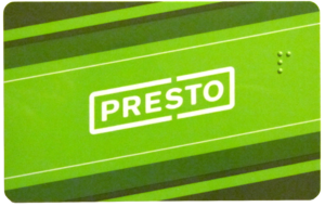 Metrolinx - The Presto card allows seamless fare payment between different public transit agencies.