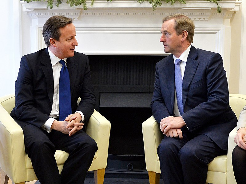 A photo of British PM David Cameron with Ireland Taoiseach Enda Kenny, dated 2014.
