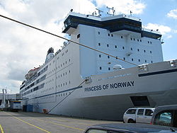 Die Princess Seaways als Princess of Norway in IJmuiden