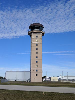 Punta Gorda Airport (Florida) - The airport's control tower.