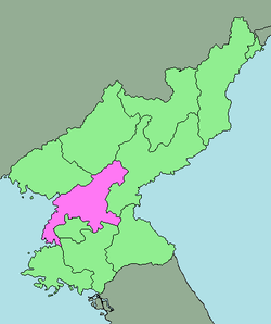 Location of South Pyongan Province