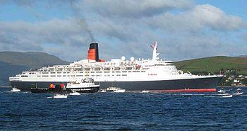 Resultado de imagen para Foto un incendio destruye el buque de pasajeros Queen Elizabeth.