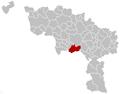 Quévy Hainaut Belgium Map.png