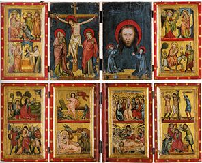 Quadtych of Christ and Mary