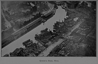 Port of Hull - Queen's Dock, Hull in 1922