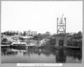 Queensland State Archives 3623 North main pier main posts and tower traveller as seen from south main pier Brisbane 11 February 1938.png