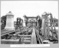 Queensland State Archives 3718 South approach timber falsework for erection of steel spans Brisbane 18 November 1936.png