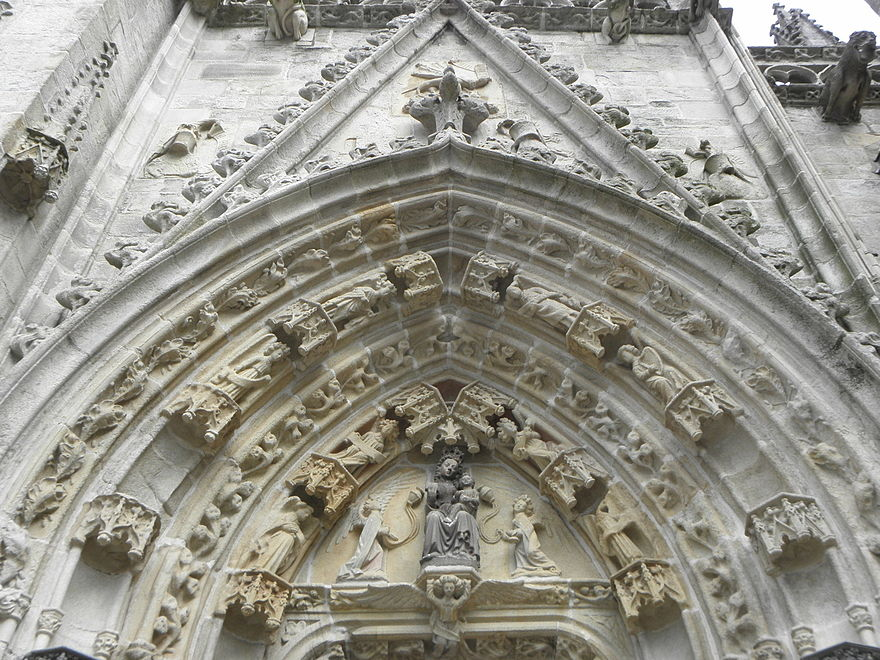 The south porch with its elaborate series of voussures.