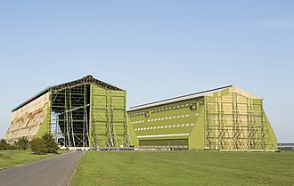 RAF Cardington - The sheds in 2013.