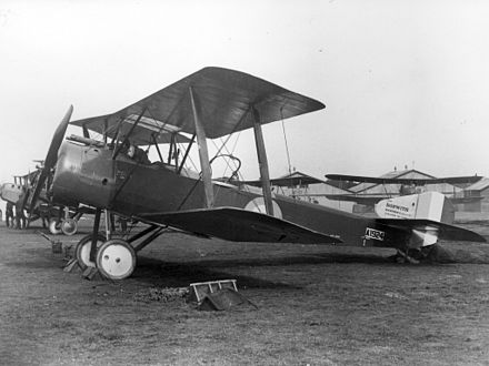 A Sopwith 1 1/2 Strutter #A1924 of 70th Squadron RAF. Wrecked 20 October 1916 RAF Sopwith 1 1-2 Strutter.jpg