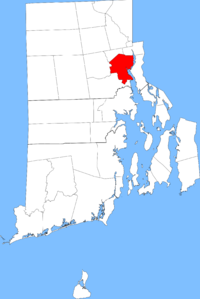 Location in Rhode Island