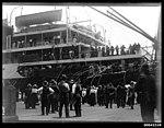 RMS ORVIETO of Belfast, leaving Sydney for London (7578592498).jpg
