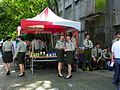 ROC Military Police Female Officers behind Recruit Tent 20120908.jpg