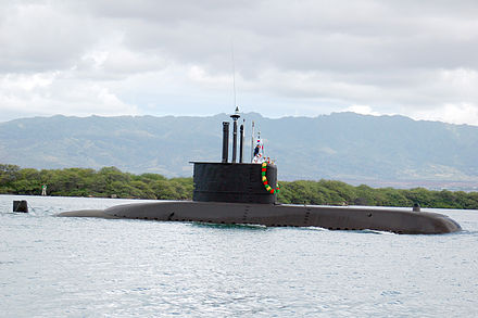 ROKS Lee Sunsin (SS 068), one of the Navy's first locally built Chang Bogo-class submarines ROKS Lee Sunsin (SS 068) arrives at Naval Station Pearl Harbor.jpg