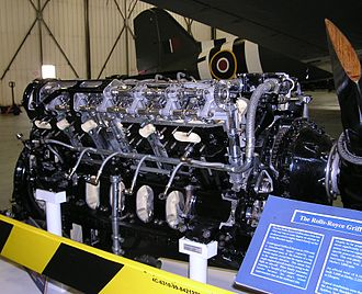 Rolls-Royce Griffon - Griffon, cut away to show camshaft drives etc., at the Battle of Britain Museum at RAF Coningsby