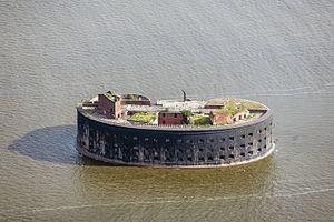 Fort Alexander (Saint Petersburg) - Image: RUS 2016 Aerial SPB Forts of Kronstadt (Fort Alexander I)