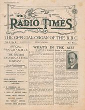 Radio Times - Cover of the first issue