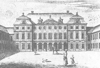 Presidential Palace, Warsaw - Radziwiłł Palace in 1762